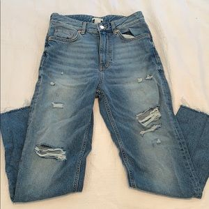 NWT H&M destroyed boyfriend jeans, 6